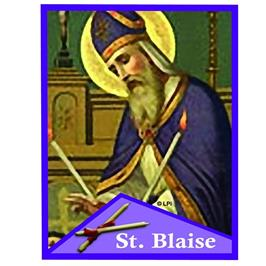 Blessing of Throats - St. Blase Day, Sunday, February 3rd